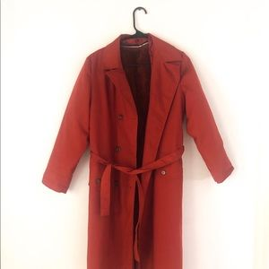 Vintage Rust colored trench coat